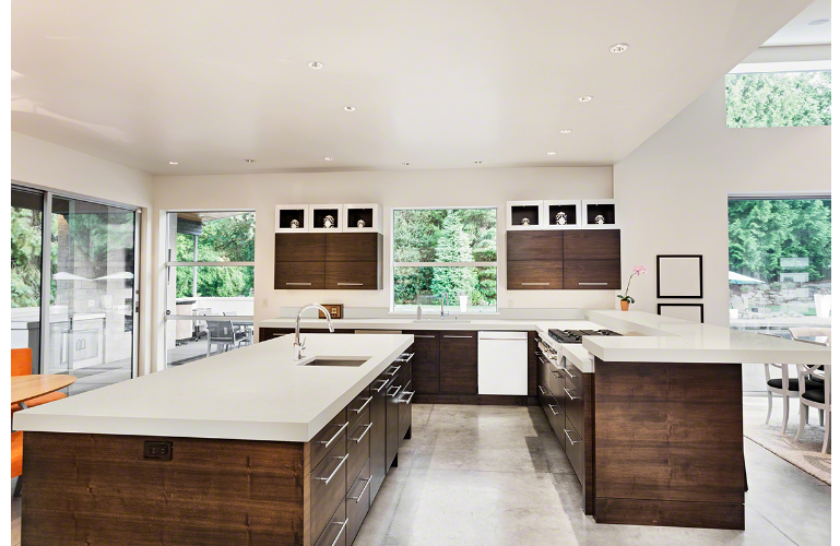 low maintenance kitchen countertops - the peaceful beauty offers a