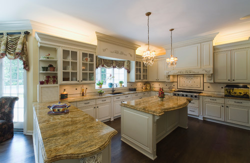 Kashmir Gold Granite Features Various Shades Of Golds And Reds In A Sandy  Yellow Base. Kashmir Gold Slabs Can Vary Greatly Including Background Color  From ...